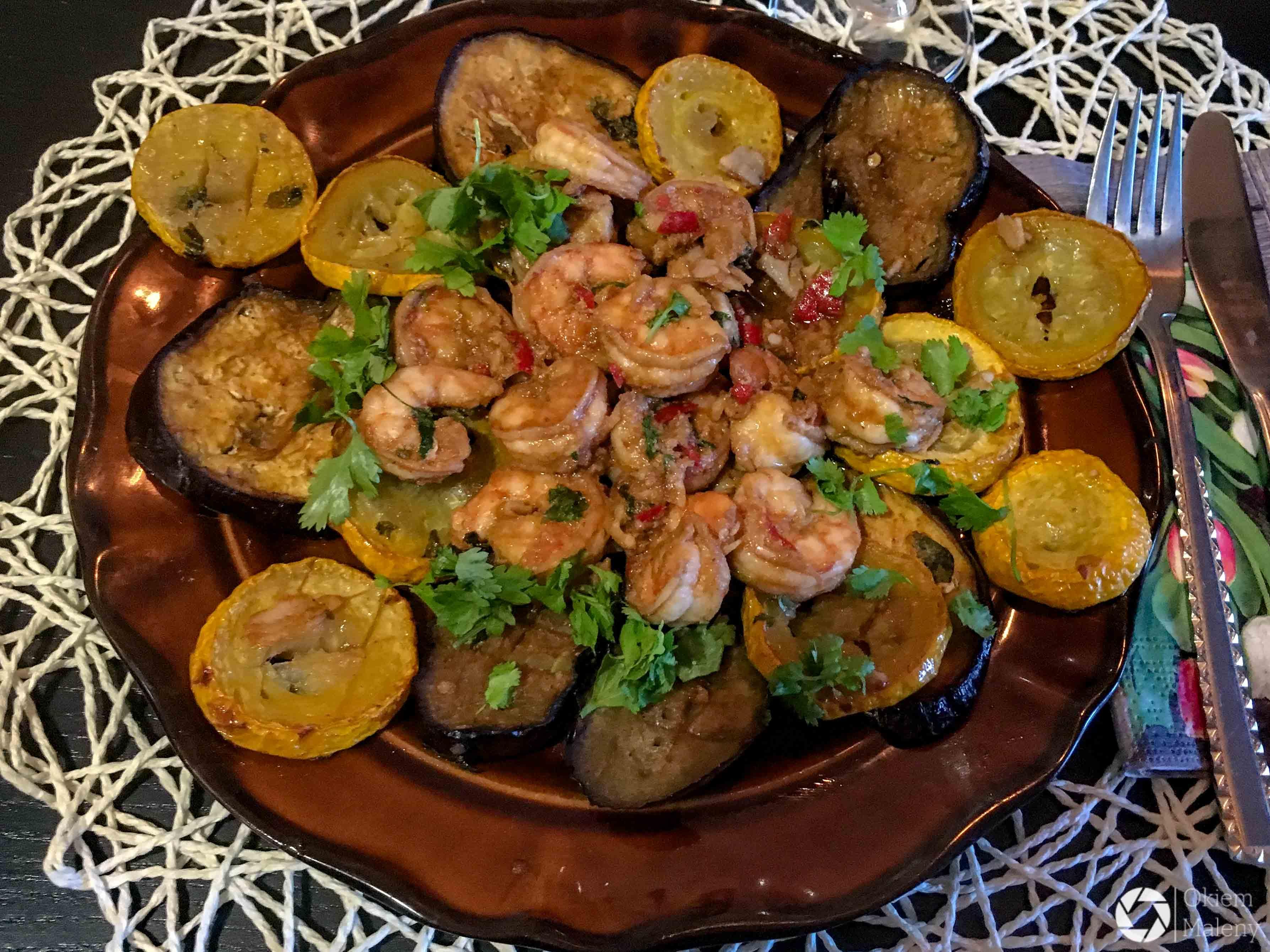 Grillowane Warzywa Z Krewetkami Okiem Maleny